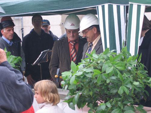 Grundsteinlegung Gemeindehaus Rohr